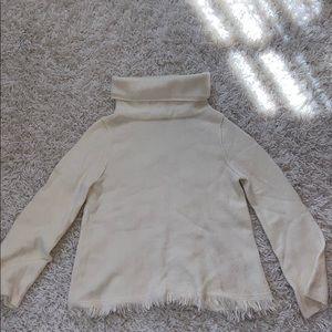 Cream wool turtle neck sweater